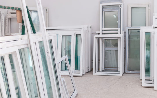 Patrick's Glass - Set Of Pvc Windows In A Factory Interior