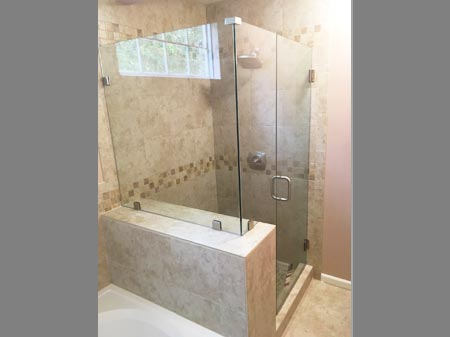 custom glass shower door installation