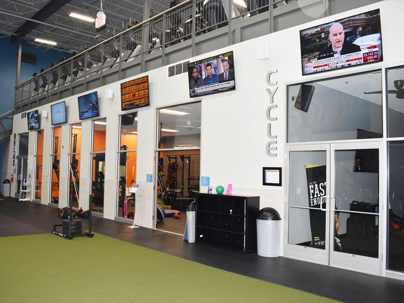 interior glass wall installation onelife fitness newport news