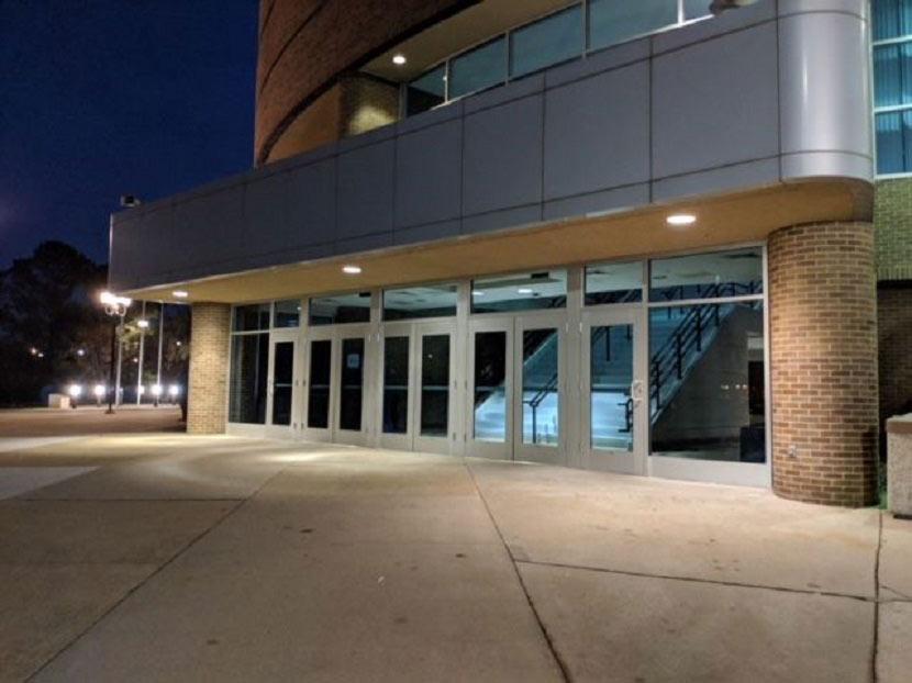 glass doorway installation hampton university