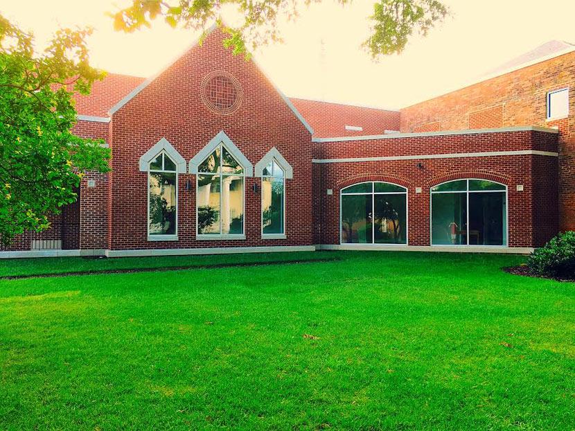 exterior glass installation hampton baptist church