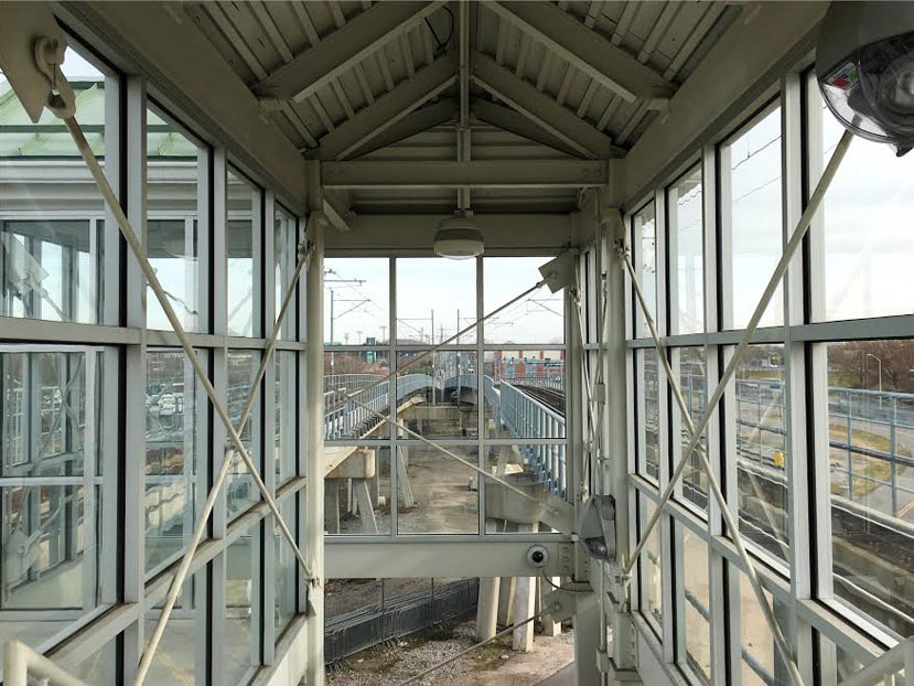 rail station glass enclosure installation